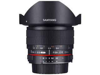 SAMYANG/サムヤン 8mm F3.5 UMC FISH-EYE CS II キヤノンEOS(EF)用 【お洒落なクリーニングクロスプレゼント!】