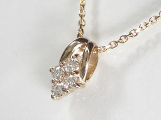 SIN ハート&キューピットダイヤペンダント 【18金ピンクゴールド】【天然ダイヤ使用】【JS4146K18PG】 【納期に3~4週間かかるため、単品での購入でお願い致します。】【SINDYP】