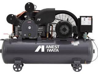 【組立・輸送等の都合で納期に1週間以上かかります】 ANEST IWATA/アネスト岩田コンプレッサ 【代引不可】レシプロコンプレッサ(タンクマウント・オイルタイプ) 50Hz TLP22EF-14M5