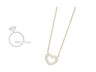 me.luxe/エムイーリュークス K10ハートダイヤネックレス ダイヤモンド ダイヤ 高級 ネックレス ペンダント ジュエリー プレゼント ギフト 包装 記念日