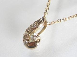 SIN ハート&キューピットダイヤペンダント 【18金ピンクゴールド】【天然ダイヤ使用】【JS3250K18PG】 【納期に3~4週間かかるため、単品での購入でお願い致します。】【SINDYP】