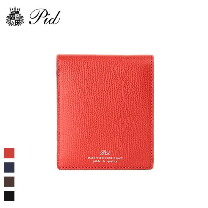 PID/ピー・アイ・ディー PAW1004 イタリアンレザー 二つ折り財布(レッド)