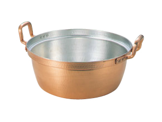 MARUSHIN/丸新銅器 銅 段付鍋 錫引きあり 30
