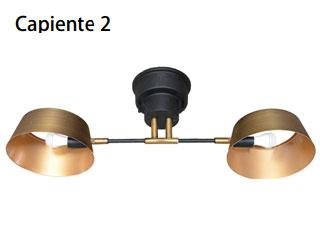 ELUX/エルックス LC10909-GD 2灯シーリングライト カピエンテ2 (ゴールド)※電球別売