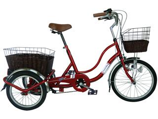 直送品 北海道 沖縄県 離島には配送できません SWING CHARLIE スイングチャーリー 代引不可 ノーパンク三輪自転車G 年末年始大決算 MGTRW20NG 後輪16インチ 前輪20インチ ワインレッド 新作販売