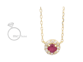 me.luxe/エムイーリュークス ルビー&ダイヤモンドネックレス ダイヤモンド ダイヤ 高級 ネックレス ペンダント ジュエリー プレゼント ギフト 包装 記念日