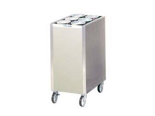 日本洗浄機 【代引不可】食器ディスペンサー カート型 保温無 CL16W6 サニストック