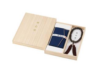 茶水晶京念珠・念珠袋セット<男性用> 401‐1505