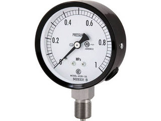 NAGANO/長野計器 普通形圧力計(A枠立形・φ75・G3/8B・0.0~1.00Mpa) AC20-133-1.0MP