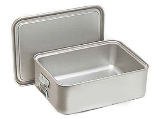 オオイ金属 アルマイト 角型二重米飯缶 (蓋付)/264-A