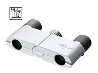 Nikon/ニコン 「遊」4×10D CF (ホワイト) 双眼鏡 【4x10】