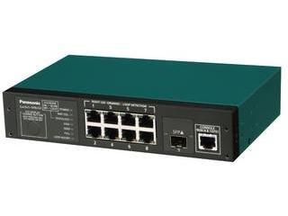 パナソニックLSネットワークス 10/100/1000Mbps8ポート+ SFP1スロット ギガスイッチイングハブ PN28080i Switch-M8eGi
