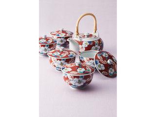 Nishinihon-tohki/西日本陶器 色彩山茶花 番茶器揃