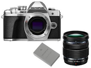 OLYMPUS/オリンパス OM-D E-M10 Mark III ボディー(シルバー)+12-45mm F4.0 PRO 標準ズームレンズ+BLS-50 充電池セット 【em10mk3set】