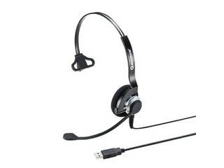 サンワサプライ USBヘッドセット(片耳タイプ) MM-HSU07BK