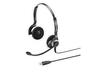 サンワサプライ USBヘッドセット(両耳タイプ) MM-HSU08BK