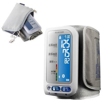 ELECOM/エレコム ECLEAR エクリア Bluetooth 上腕式血圧計 充電式 アプリ対応 ホワイト HCM-AS01BTWH