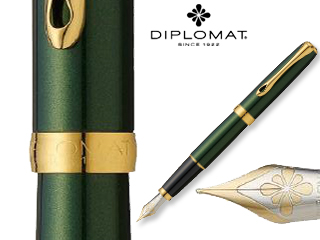 DIPLOMAT/ディプロマット 【Excellence A/エクセレンスエー】エバーグリーン ゴールド 14K FP (M)