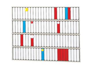LIHIT LAB./リヒトラブ 回転標示盤(100口座) S2534