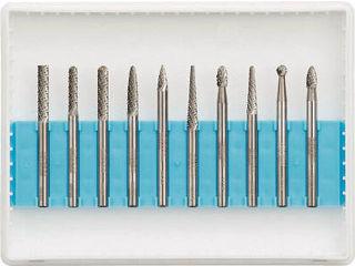 TRUSCO/トラスコ中山 超硬バーセットAシリーズ 軸3mm 刃径3mm 10本セット TB-A030-10S