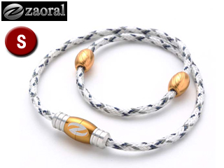 zaoral/ザオラル N12614 リカバリーネックレス 【Sサイズ:43cm】 (ホワイト/ゴールド)