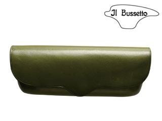 Il Bussetto/イルブセット Glasses case/メガネケース 【グリーン】  (横) 眼鏡 ケース 革小物 牛革 ギフト プレゼント