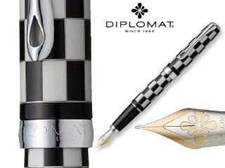DIPLOMAT/ディプロマット 【Excellence A/エクセレンスエー】ローマ ブラックホワイト 14K FP (M)