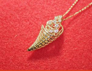 MJ 18金ダイヤモンドネックレス YG ( イエローゴールド) 天然ダイヤモンド ギフト プレゼント ジュエリー ダイヤ