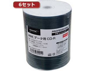 HIDISC/ハイディスク HI DISC 【6セット】 CD-R(データ用)高品質 100枚入 TYCR80YP100BX6