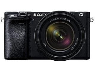 SONY/ソニー ILCE-6400M-B(ブラック) α6400 高倍率ズームレンズキット デジタル一眼カメラ APS-Cセンサー搭載/約2420万画素/ISO100-32000/4K動画記録30P/有機ELファインダー/自分撮り対応タッチ液晶
