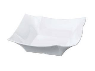 若泉漆器 ニューホワイト 四方折紙角鉢