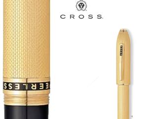 CROSS/クロス 【PEERLESS 125/ピアレス125】23金ヘビーゴールドプレート セレクチップローラーボール AT0705-4
