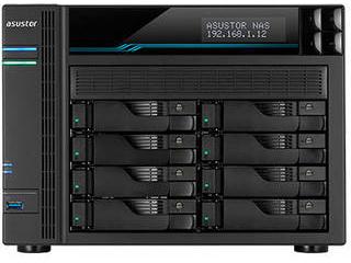 ASUSTOR/アサスター 8ベイNASケース Quad Core 8GB 10GBASE-Tx2 2.5GBASE-Tx2 USB 3.2 Gen-1x2 M.2 NVMe/SATA slotx2 AS6508T
