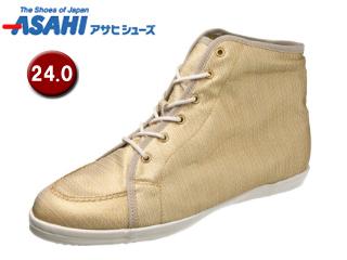 ASAHI/アサヒシューズ AX11211-1 アサヒウォークランド L035GT ゴアテックス スニーカー 【24.0cm・2E】 (ホワイト/ゴールド)