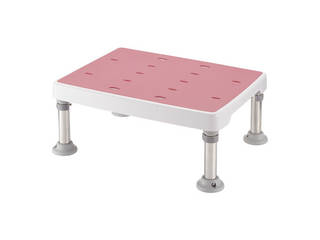 浴そう台 高さ調節付 すべり止め ピンク M型