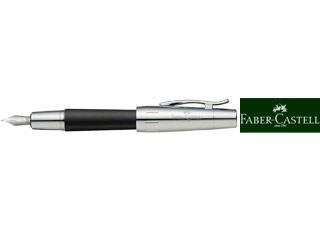 FABER-CASTELL/ファーバーカステル 【E-MOTION/エモーション】ウッド&クローム 梨の木 ブラック 万年筆 FP F 148221