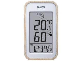 気軽におけるシンプルデザインのデジタル温湿度計 タニタ デジタル温湿度計 超特価SALE開催 TT572NA ナチュラル 送料無料 一部地域を除く