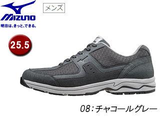 mizuno/ミズノ B1GC1527 LD ADOUND ウォーキングシューズ メンズ 【25.5】 (08/チャコールグレー)