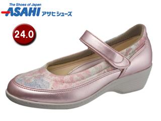 ASAHI/アサヒシューズ KS23341-1 快歩主義 L119AC レディースコンフォートシューズ 【24.0cm・3E】 (ピンクガラ)