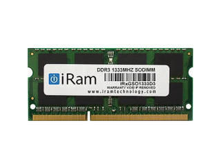 iRam Technology 8GB DDR3 PC3-10600 204pin SO-DIMM IR8GSO1333D3