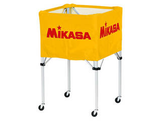 MIKASA/ミカサ 器具 ボールカゴ 箱型・大(フレーム・幕体・キャリーケース3点セット) イエロー BCSPH-Y