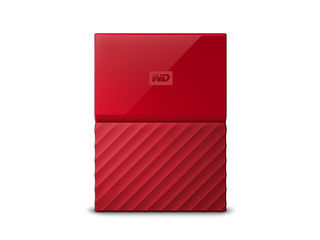 WESTERN DIGITAL/ウエスタンデジタル USB3.0対応ポータブルハードディスク My Passport 4TB WDBYFT0040BRD-JESN レッド