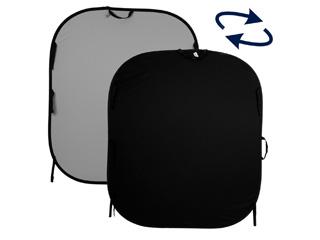 Lastolite ラストライト 【納期未定】 LL LB56GB 折り畳み式プレーンリバーシブル背景(1.5x1.8m):ブラック/ミッドグレイ