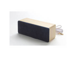 ヨシモク 藍木スピーカー檜(ひのき)(スティックアンプ付) 無地 I-WSP ・iPhone、スマホ、タブレット用 ※アンプなしでも再生可能