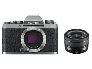 FUJIFILM/フジフイルム F X-T100LK-DS(ダークシルバー) FUJIFILM X-T100 レンズキット 【FUJIFILM X-T100/XC15-45mmF3.5-5.6 OIS PZ】