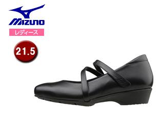 mizuno/ミズノ B1GH1661-09 レディースウォーキングシューズ セレクト600 【21.5】 (ブラック)