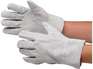 MIDORI ANZEN/ミドリ安全 牛床革手袋 内縫 12双入 MT-101