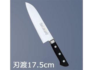 マサヒロ 正広作 モリブデン鋼 左きき用 ツバ付 三徳 17.5cm
