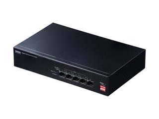 サンワサプライ 長距離伝送・ギガビット対応PoEスイッチングハブ(5ポート) LAN-GIGAPOE51