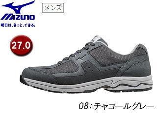 mizuno/ミズノ B1GC1527 LD ADOUND ウォーキングシューズ メンズ 【27.0】 (08/チャコールグレー)